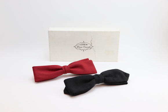 1930's Currie Dress Cravats - 2 Bow Ties
