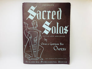 1948 Sacred Solos Voice Music Book For Church and General Use