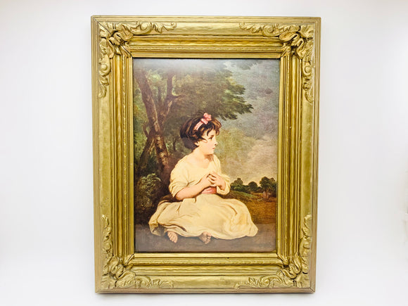 Vintage The Age of Innocence, Sir Joshua Reynolds Wood and Plaster Framed Print