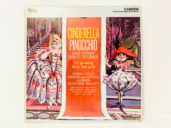1957 Cinderella Pinocchio and Other Great Stories, Vintage Vinyl Children's Record