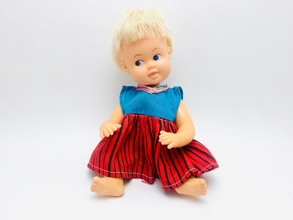 1960's Plasty Pet Rubber Doll