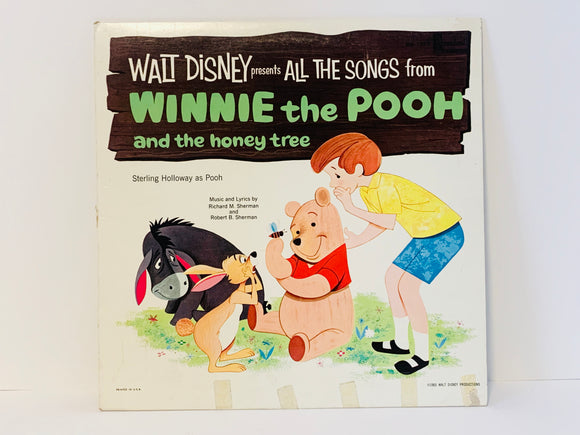 1965 Walt Disney Presents All The Songs from Winnie The Pooh and The Honey Tree Record