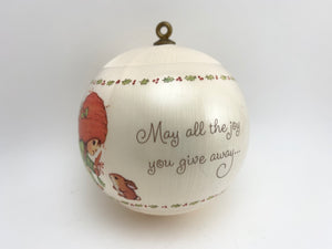 SOLD! 1983 Hallmark Satin Christmas Ball Keepsake