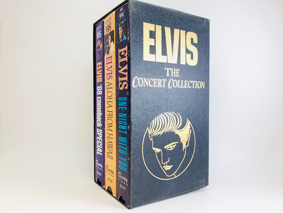 Elvis The Concert Collection VHS Video Cassette Tape Box Set