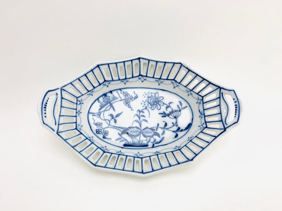 Antique Pickle Dish With Pierced Reticulated Edge - Carl Schumann Arzberg, CS Bavaria Fine German China