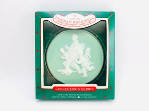 "Hallmark Norman Rockwell ""Jolly Postman"" Cameo Ornament 1985 Sixth in Series"