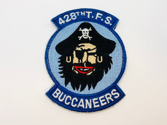 Vintage USAF 428th TFS Buccaneers Embroidered Velcro Military Patch