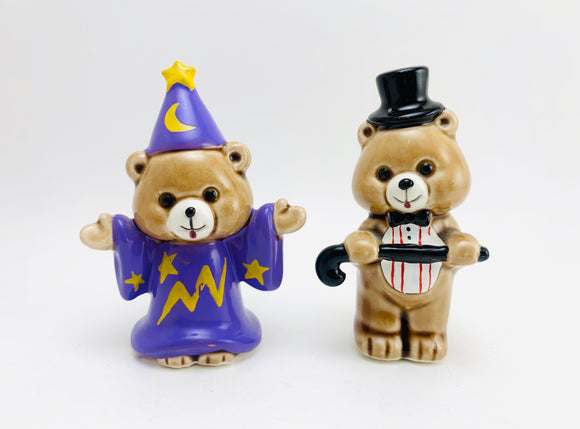 Vintage Miniature Capilano Porcelain Bears, Tuxedo and Wizard Costumes