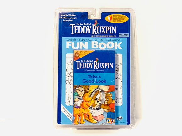 Teddy Ruxpin, Take a Good Look, VHS and Activity Book