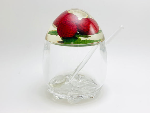 Perspex Lucite Raspberry Jelly Pot