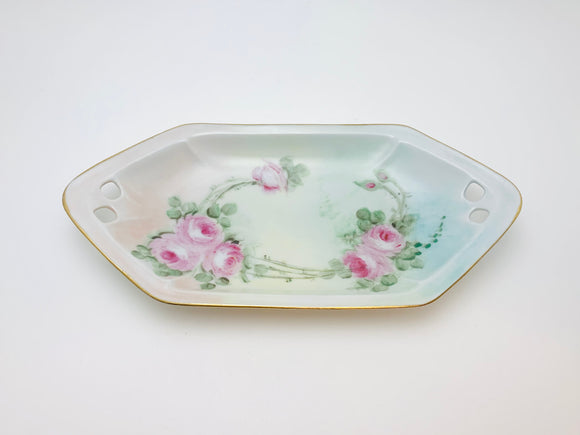 1929 Reinhold Schlegelmilch R.S. Germany Hand Painted Pickle Dish