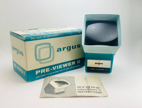 1960's Argus Pre-Viewer II For 35mm Slides in Original Box