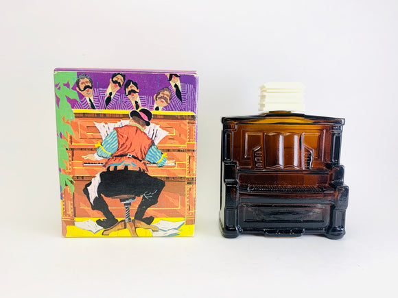 1970's Avon Piano Decanter 4 Oz Tai Winds After Shave - Empty with Original Box