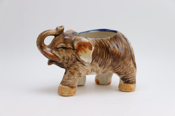 1940's Occupied Japan Porcelain Elephant Planter