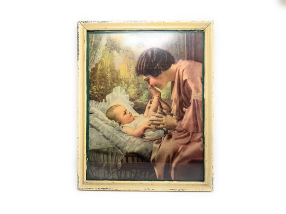 1940's Mother and Child Framed Print