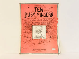 1959 Ten Busy Fingers, Marjorie Hesse, Big Note Piano Sheet Music