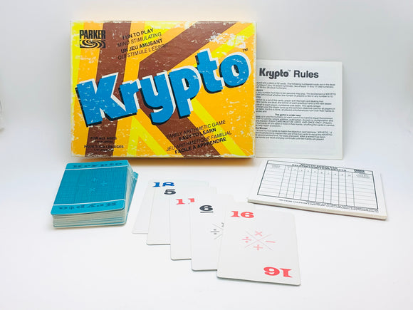 1970's Krypto Mathematics Card Game by Parker