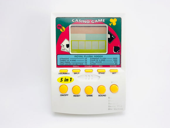 1980's Casino Game Handheld Electronic Game