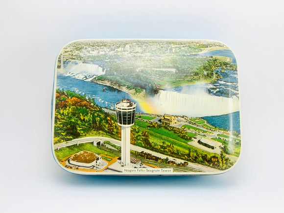 1950's Riley's Toffee Tin - Niagara Falls, Seagram Tower
