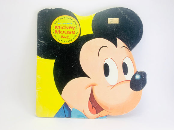 1981 Mickey Mouse Book A Golden Shape Book