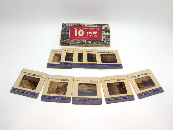 Vintage Portugal World's Scenic Splendor Set of 10 2x2 Colour Slides