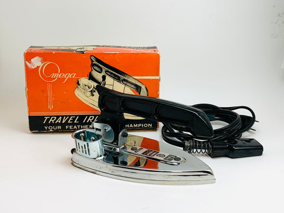 1950-60's Omega Travel Iron IOB