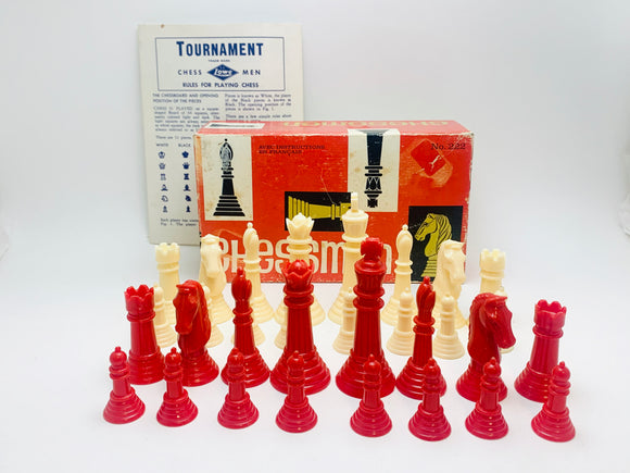 1945 Box of Plastic Chessmen - Complete