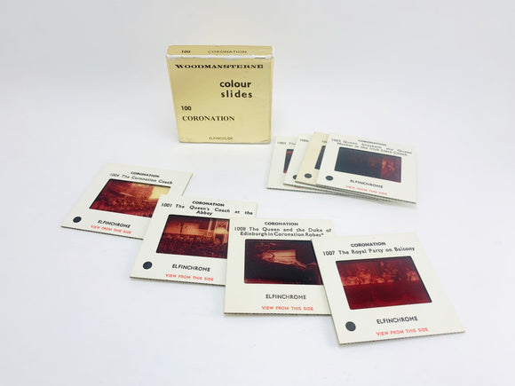Woodmansterne Color Slides Set of 8 Coronation