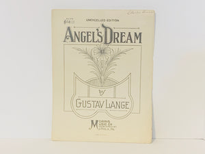 1928 Angel's Dream by Gustav Lange, Piano Sheet Music