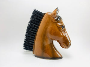 1960's Porcelain Horse Head Clothes Brush