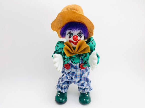 Small Ceramic Faced Clown Doll
