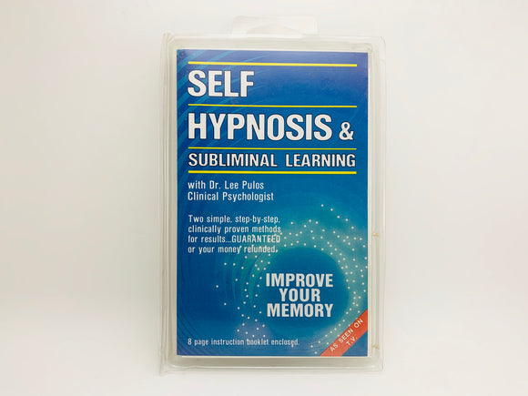 1983 Self Hypnosis & Subliminal Learning, Improve your Memory Cassette
