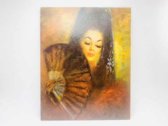 Vintage Litho on Textured Board, Carmen by Runci