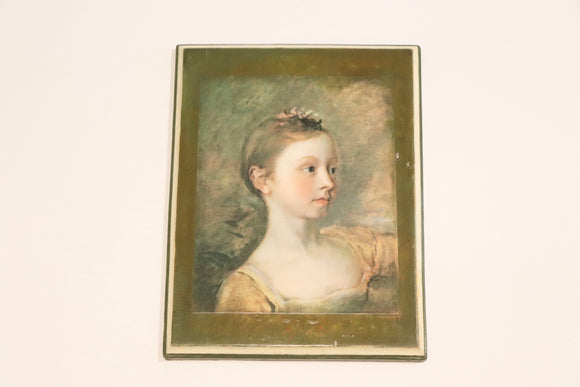 SOLD! Vintage Portrait Print on Wood