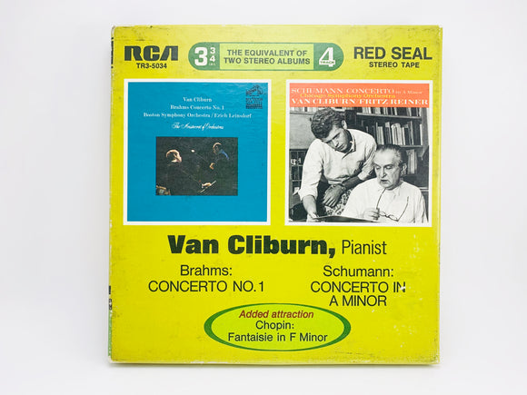 1964 Van Cliburn - Brahms Concerto No1, Schumann Concerto in A Minor Reel to Reel 4 Track 3 3/4 IPS Tape