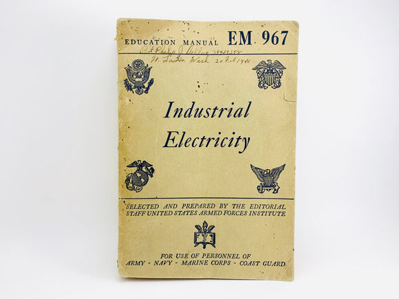 1945 US Armed Forces Education Manual, Industrial Electricity