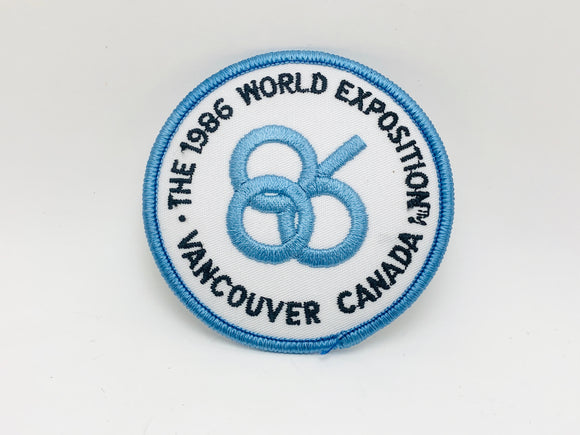 1986 World Expo Vancouver Canada Patch