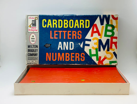 1962 Milton Bradley Cardboard Letters and Numbers