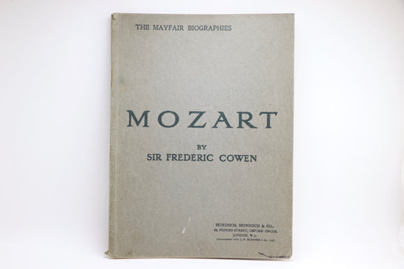 1920's The Mayfair Biographies - Mozart