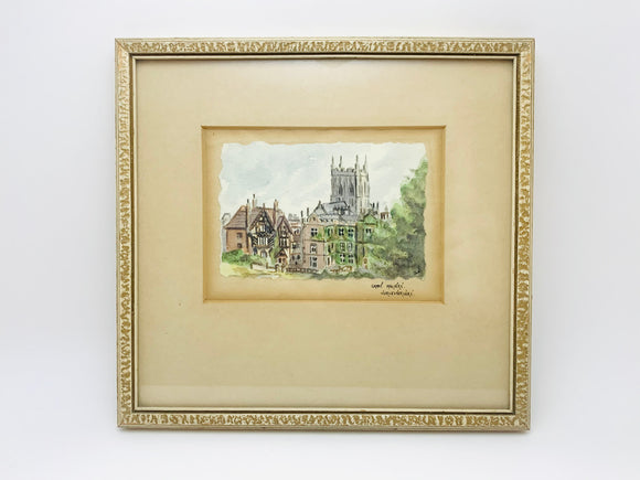 1950's Great Malvern Worcestershire Framed Original Watercolour