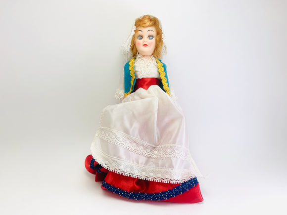 Vintage Czechoslovakia Sleepy Eye costume Doll