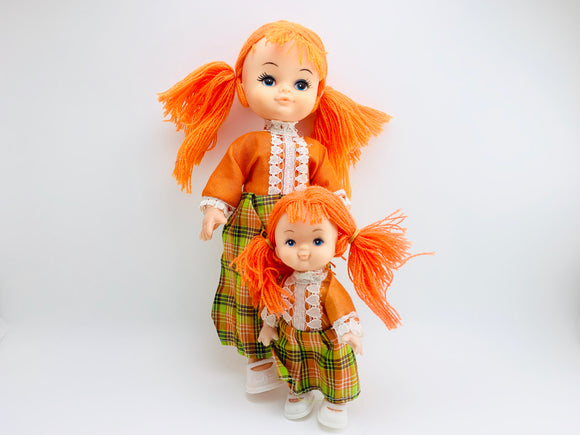 1970's Eugene Style Dolls, Orange Wool Hair