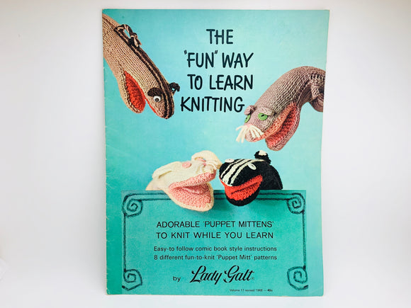 "1968 The ""Fun"" Way To Learn Knitting"
