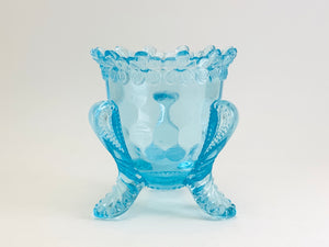 1970's Degenhart Turquoise Footed Toothpick Holder