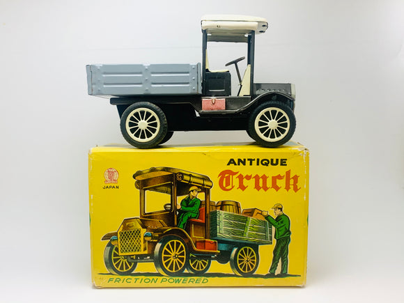 Antique Truck Friction Powered Tin Toy with Box