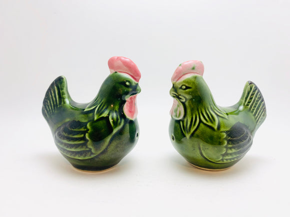 Vintage Ceramic Hen Salt and Pepper Shakers