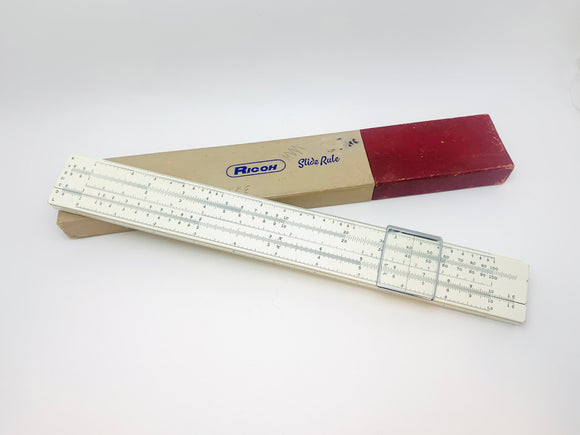 Vintage Ricoh Bamboo 105 Slide Rule in Box