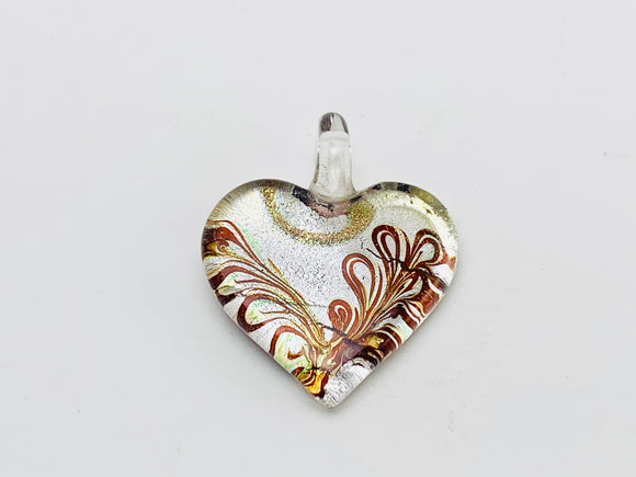 Vintage Murano Glass Heart Shaped Pendant