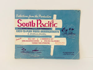 "1956 Selections From The Production ""South Pacific"" Piano Sheet Music"