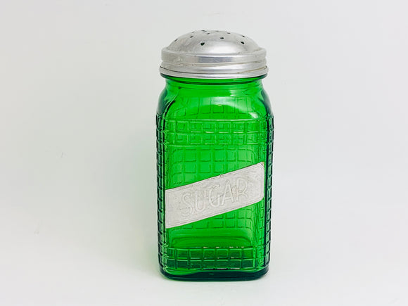 1940's Owens Illinois Green Glass Sugar Shaker